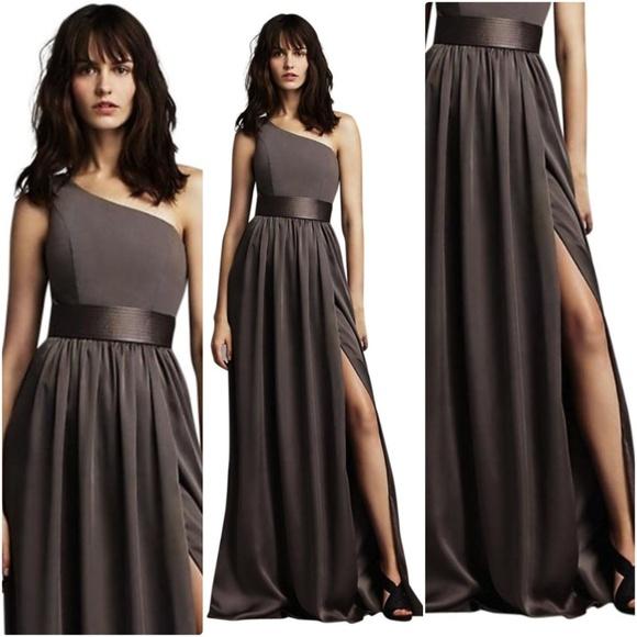Vera Wang Dresses | White By Charcoal Vw360215 Formal Dress | Poshmark